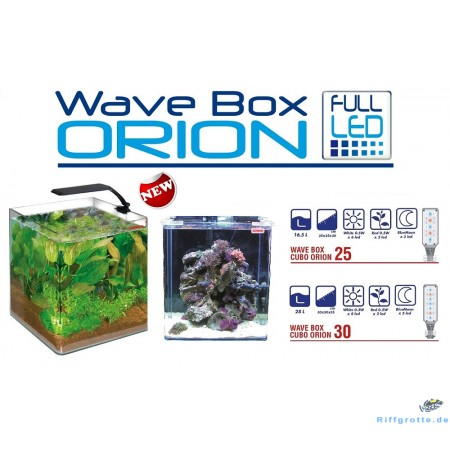 Nanoaquarium Wave Box Cube Orion Weiss  25  16,5L